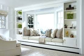 bay window decorating ideas pictures living room with seat built in shelves decorative pillows curtain treatment