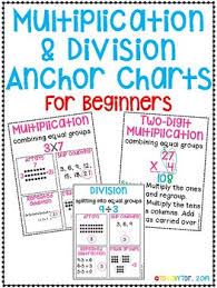 Multiplication And Division Anchor Chart Worksheets