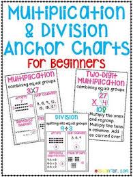Multiplication Division Anchor Charts