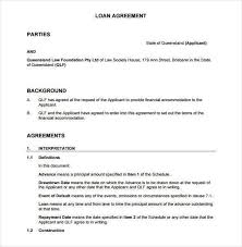 Template Of A Contract Between Two Parties Contract Agreement Template Between Two Parties Sample Loan