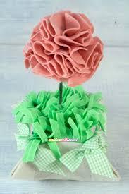 Fiori di feltro e pannolenci fiori di feltro fatti a mano vaso