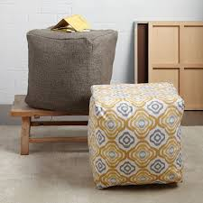 How To Cover A Square Pouf
