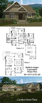 house plans to add on later expandable floor phased stage build add on house plans