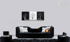 Home office wall art Single Guy 2019 Abstract Wall Tree Black White Oil Painting Canvas Simple Modern Landscape Artwork Modern Home Office Wall Art Decor Handmade From Fashiondig Dhgate 2019 Abstract Wall Tree Black White Oil Painting Canvas Simple