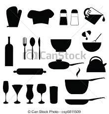 kitchen utensils silhouette vector free. Kitchen Utensils - Csp5811509 Silhouette Vector Free A