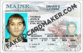 Id Drivers Maine License Maker Fake - Card Virtual