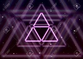 Magic Triangle Symbol Spreads The Mystic Energy In Spiritual