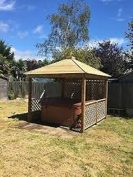 gazebo wooden hot tub cover jacuzzi shelter spa cover we assemble for free 4