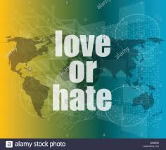 Love Or Hate Words On Digital Touch Screen Interface Vector