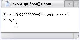 floor rounding a number down to the nearest integer