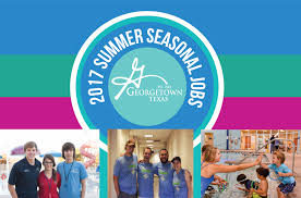city of georgetown texas summer seasonal job opportunities