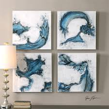 149 20 w x 20 h x 2 d uttermost swirls in blue abstract art s 4 on uttermost large wall art with  149 20 w x 20 h x 2 d uttermost swirls in blue abstract art s