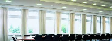 silent gliss curtain tracks installed in conference room