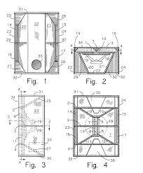 Bass Reflex Cabinet Design Patent Us7520368 Horizontally Folded Reflex Ported Bass