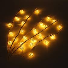 Fairy Lights Price In India Twig Tree Table Fairy Lights 110 220v 25led Branches Lamp