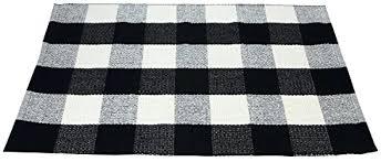 plaid area rug black white cotton rug checd plaid area rug kitchen mat entry way bath plaid area rug