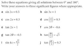 trigonometry worksheets for