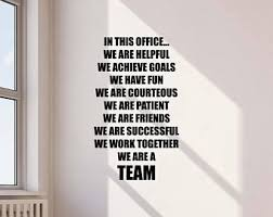 office wall decal. In This Office Wall Decal We Are Team Quote Work Inspirational Gift Lettering Vinyl Sticker Motivational L