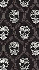 fl skulls pattern black and white iphone 5 wallpaper