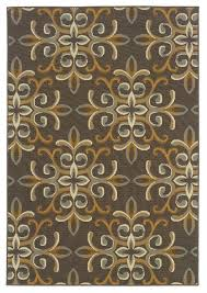 outdoor woven area rug with fl pattern multicolor contemporary outdoor rugs by ladder