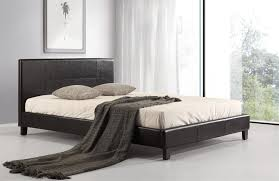 Black leather bed frame Soft Bed Double Pu Leather Bed Frame Black Holandiaogloszenia Black Leather Double Bed Frame 14 Products Graysonline
