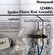 honeywell smart valve ignitor flame rod assembly q3400a1024 honeywell smart valve ignitor flame rod assembly