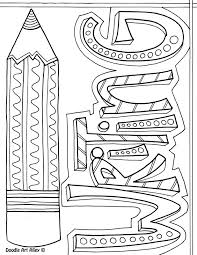 Writing A Title Page Subject Cover Pages Coloring Pages Classroom Doodles