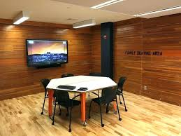 interior wood paneling for walls reclaimed bleacher boards create the perfect in this office wooden wall