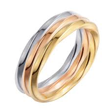 chinese professional jewelry set snless steel jewellery twisted ring in tricolor minggui jewelry