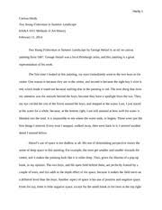 critical response essay on methods of art history carissa  4 pages formal analysis essay on methods of art history