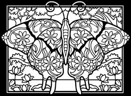 Small Picture Difficult butterflies black background Insects Coloring pages