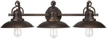 vintage bathroom lighting. Capital Lighting 3793BB ONeill Vintage Burnished Bronze 3-Light Bathroom Vanity Light Fixture. Loading Zoom C