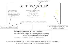 Numbered Gift Certificate Template Create Your Own