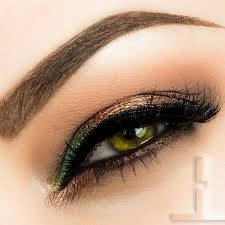 try shades of earthy neutral toned eye shadow for a subtle yet sultry smokey eye