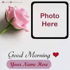 good morning greeting card on photo