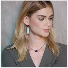 kendra scott elisa pendant necklace in black drusy precious accents ltd