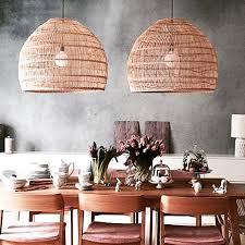 Large Wicker Pendant Light Wicker Basket Light Xl
