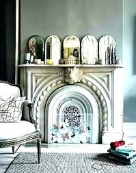 unused fireplace as awesome mantel decor ideas inside open