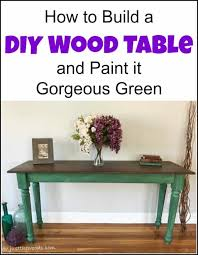 how to build a diy wood table and paint