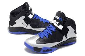 lebron 6 shoes. lebron james nike zoom soldier 6 black/silver-blue shoes