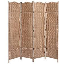free standing screen. Unique Screen MyGift Freestanding Bamboo Woven Textured 4Panel Partition Room Divider  Folding Privacy Screen Beige With Free Standing Screen