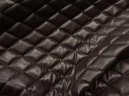 Brown Faux leather Quilted Vinyl fabric with 3/8 Foam & ð???zoom Adamdwight.com