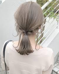 ミルクティーベージュ Włosy2019 髪色 ミルクティー髪色
