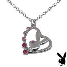 necklace letter c pendant bunny charm swarovski crystal silver chain box