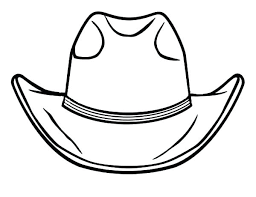 Cowboy Boots Coloring Pages To Print Cowboy Hat Printable Coloring