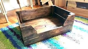 raised wooden dog bed frame wood beds for large dogs designs wood dog bed