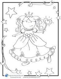 Princess Coloring Page Kleurplaten Tegninger