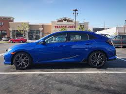 Image Result For Blue Honda Civic 2017 Hatchback With Jet Black Wheels