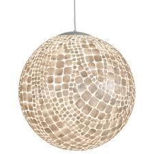 unique round capiz shell chandelier for home lighting ideas
