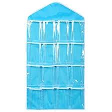 Polyester Plain Wardrobe Wall Mounted 16 <b>Grid Storage Bag</b> ...